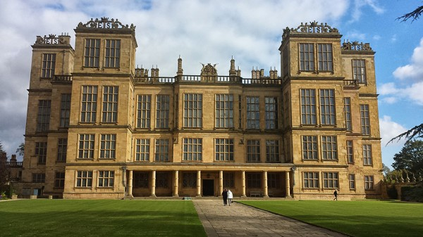 The palatial Hardwick Hall, Derbyshire countryside, UK