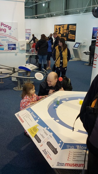 Ian Pearson and offspring, RAF Cosford Museum