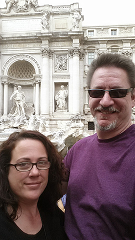 Self at the Trevi Fountain, Rome